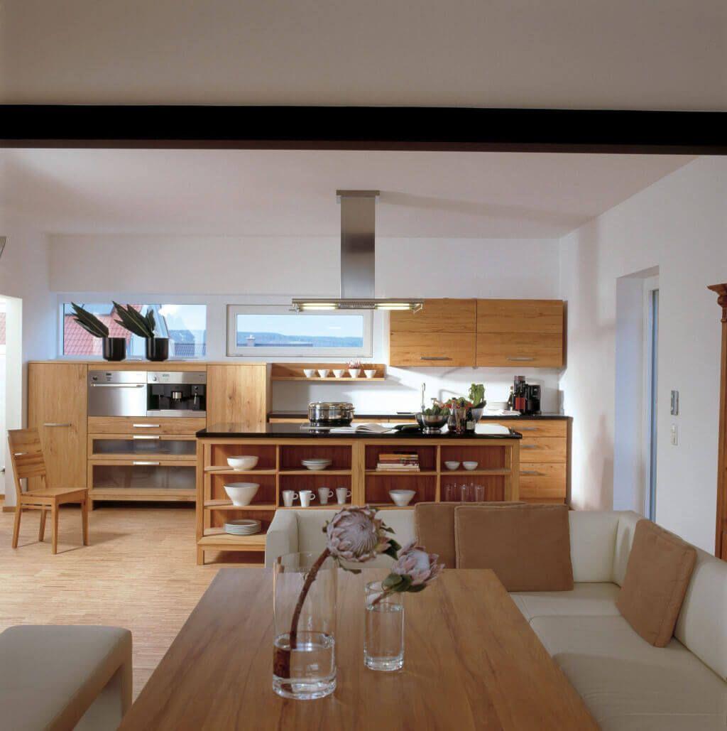 Kuche Holz Modern Einrichtung Haus Eisner Baufritz Kuche Offen