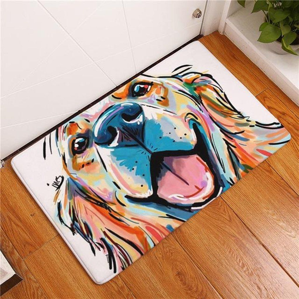 floors navy with eileenanddogseileenanddogs puppy is looks black behavior muzzle training dog get getting floor a tan blue on mat lying basics baby the bath and serious clara