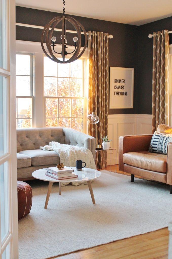 Linen + Leather Den Reveal (Part 1) Modern family, City farmhouse