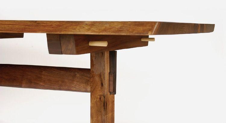 George Nakashima Trestle Table Detail Wood Furniture Plans Furniture Rustic Furniture
