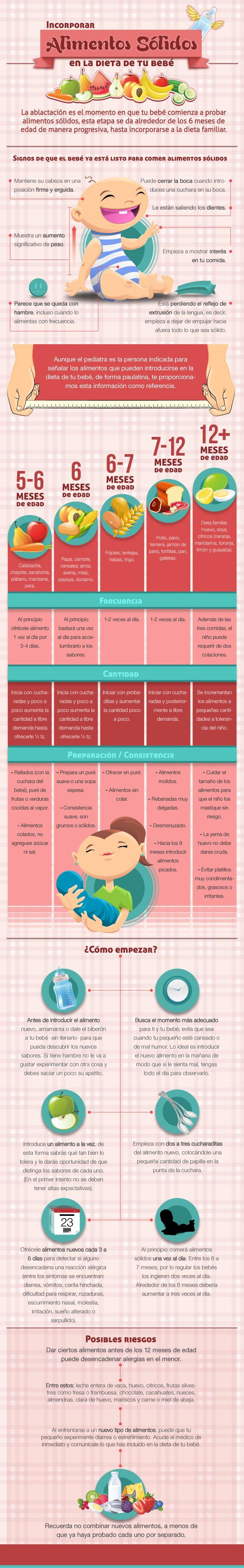 aprende a incorporar alimentos sólidos en la dieta de tu bebé