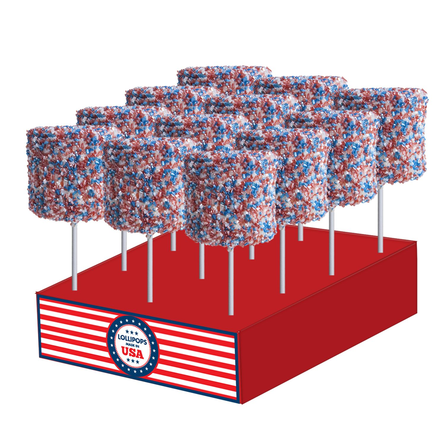 Giant Patriotic Crystalz Marshmallows by Melville Candy
