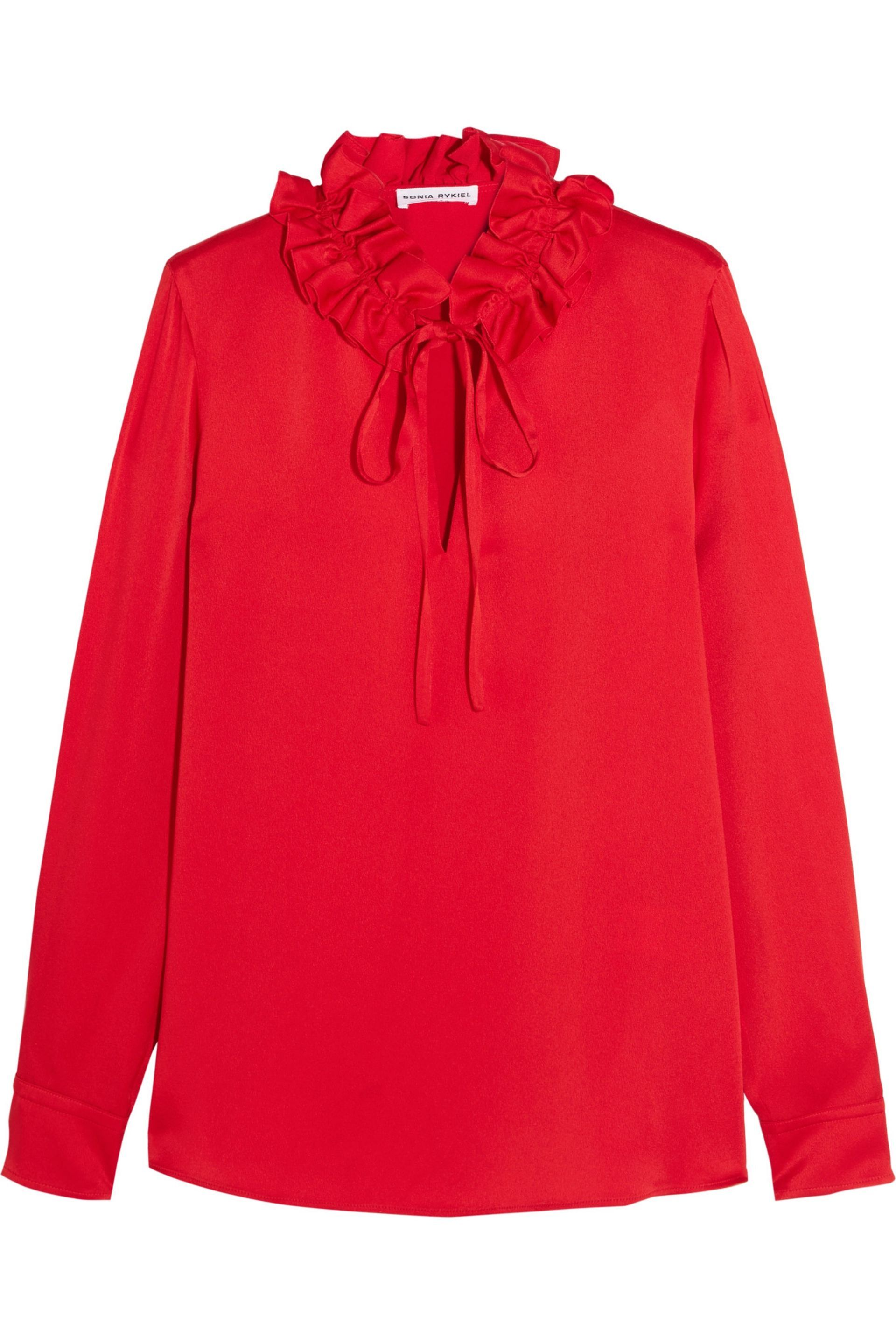 Ruffled crepe de chine blouse | SONIA RYKIEL | Sale up to 70% off