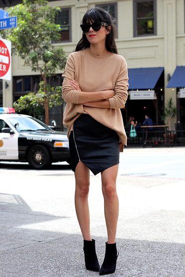 Lulus Skirt, Zara Sweater