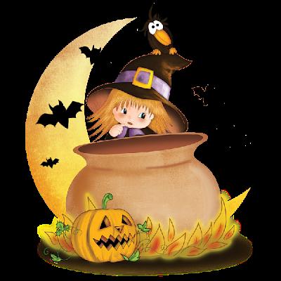 Hermosos Paisajes Dibujos Animados De Halloween Pintura De Halloween Dibujos De Halloween