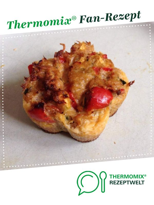 Saftige Thunfisch/Gemüse Muffin Low Carb