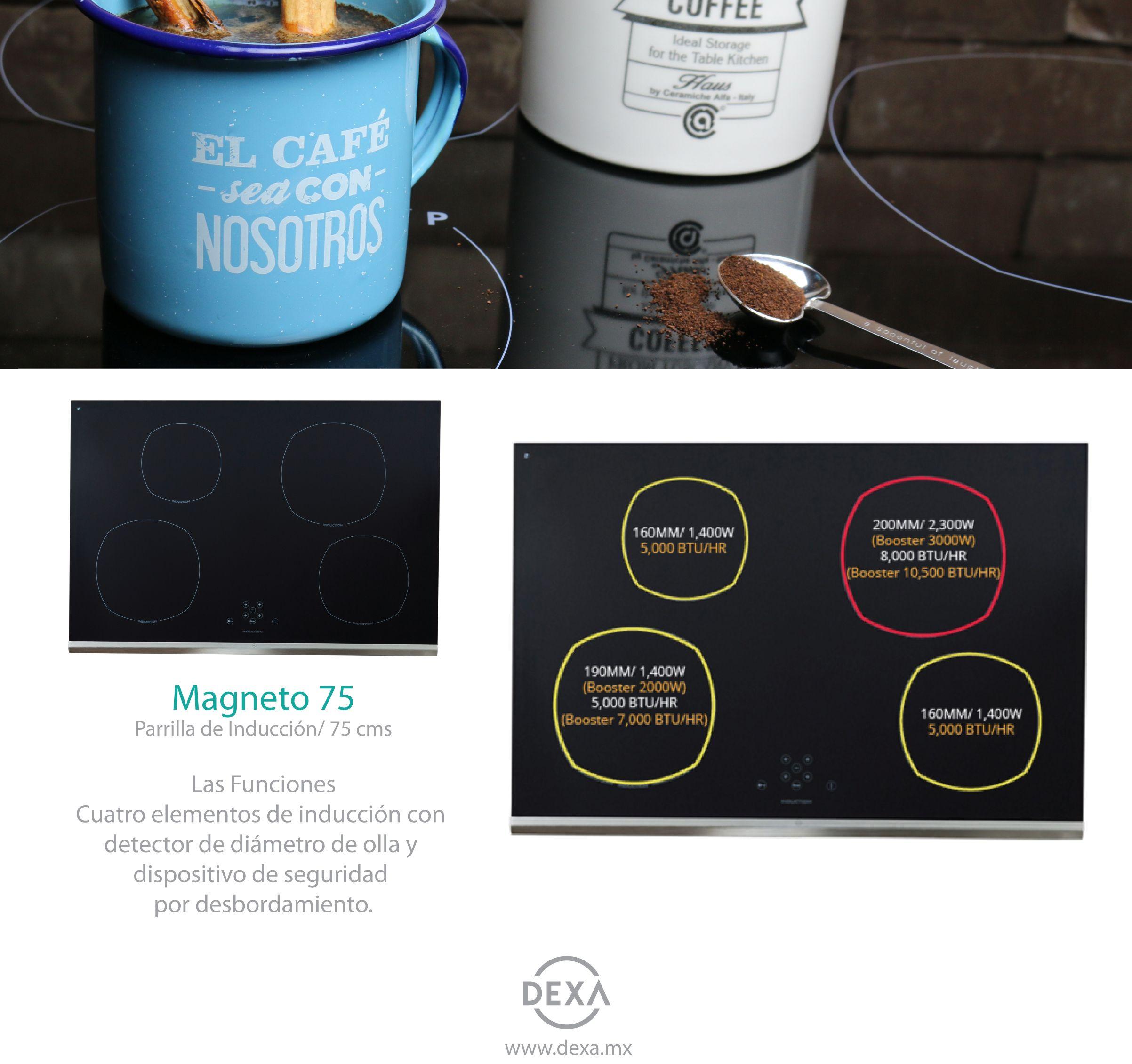 Parrilla de Inducción Magneto 75 #dexa | CONÓCENOS MEJOR | Pinterest ...