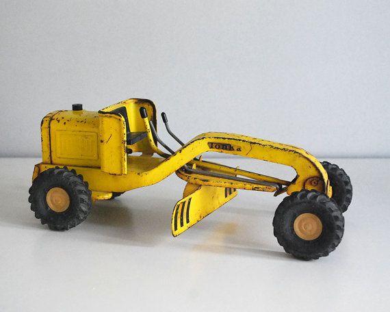 Vintage Tonka Tractors : Tonka road grader s mini pressed steel tractor