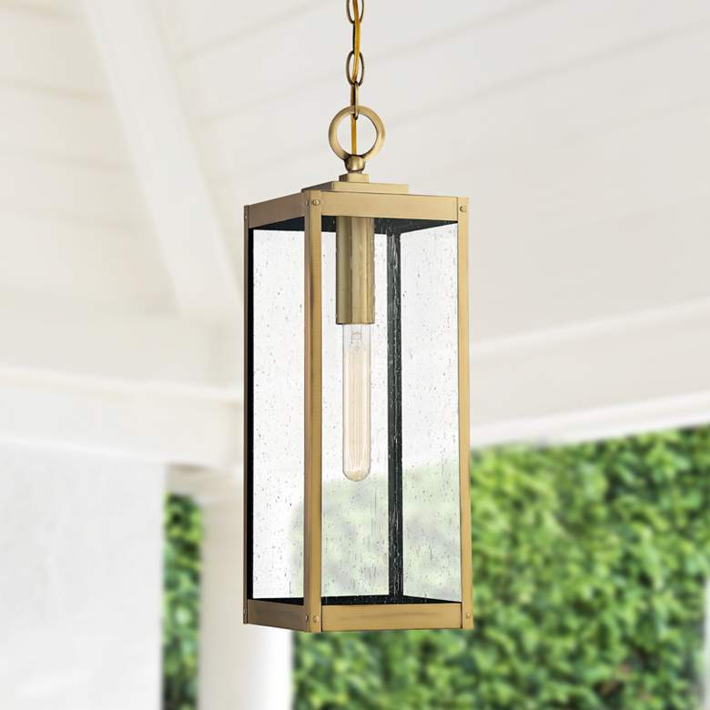 Westover 20 3 4 High Antique Brass Outdoor Hanging Light 70r66 Lamps Plus In 2020 Outdoor Hanging Lights Hanging Lights Porch Light Fixtures