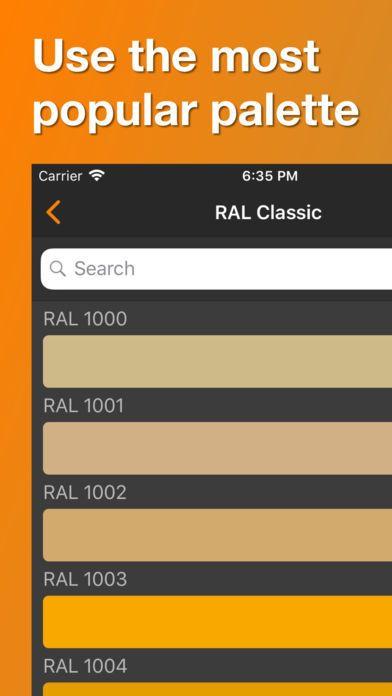 Ral Color Palette 3d Colors Reference Productivity Iphone App