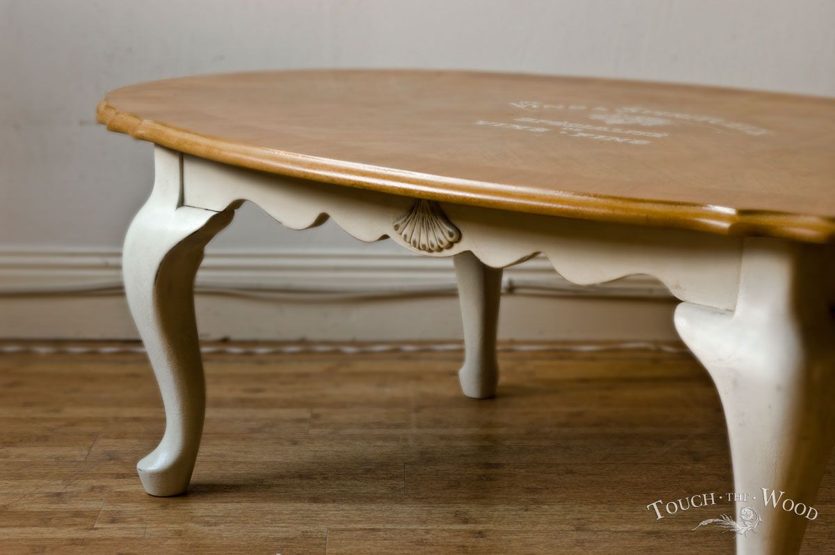 Shabby Chic Oval Coffee Table no 01
