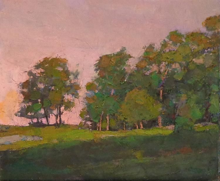 "Larry Horowitz, ""Hillside"", 19 x 23, Oil | Eisenhauer Gallery of Edgartown, MA"