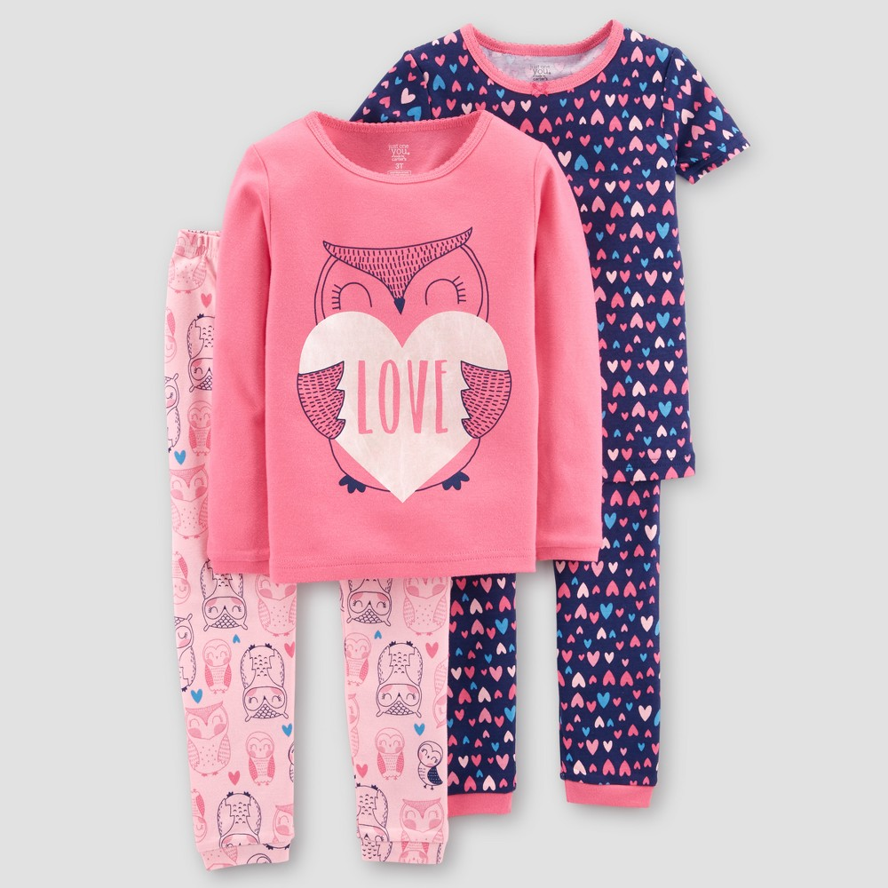 306e6ffce183 Baby Girls  4pc Owl Love Candy Pajama Set - Just One You made by ...