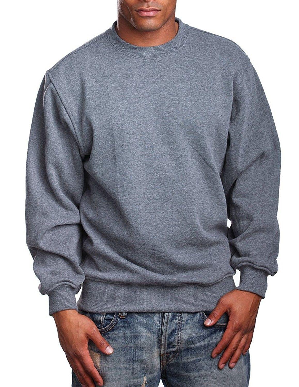 Mens Heavy Weight Fleece Crewneck Pullover Dark Grey Cl12nfg6b25 Mens Sweatshirts Hoodie Hoodie Fashion Online Mens Clothing [ 1500 x 1158 Pixel ]