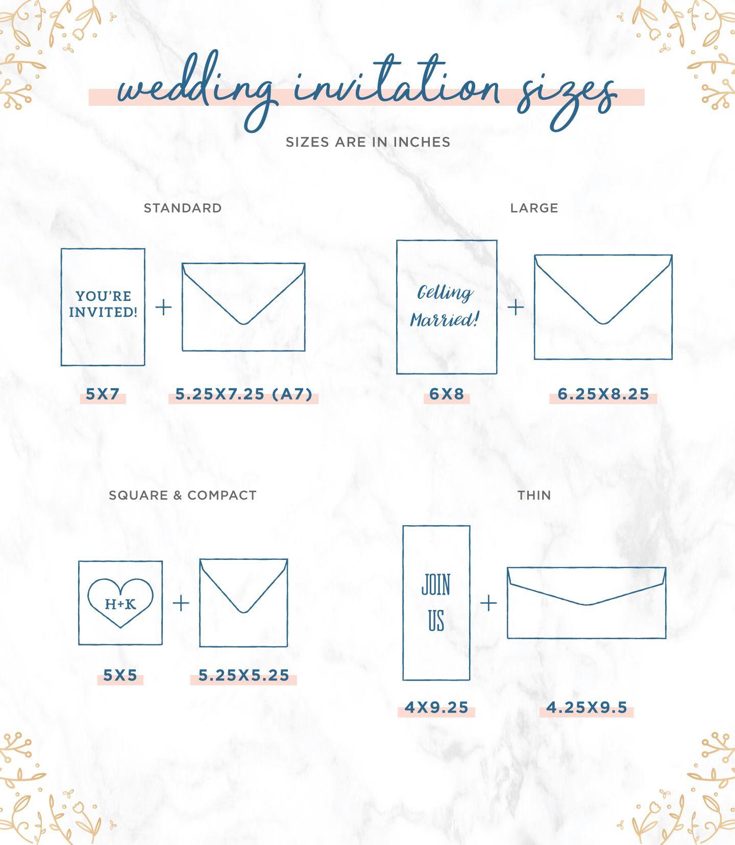 Most Popular Wedding Invitation Sizes Stationary Suite Tips Wedding Invitation Size Standard Wedding Invitation Size Popular Wedding Invitations