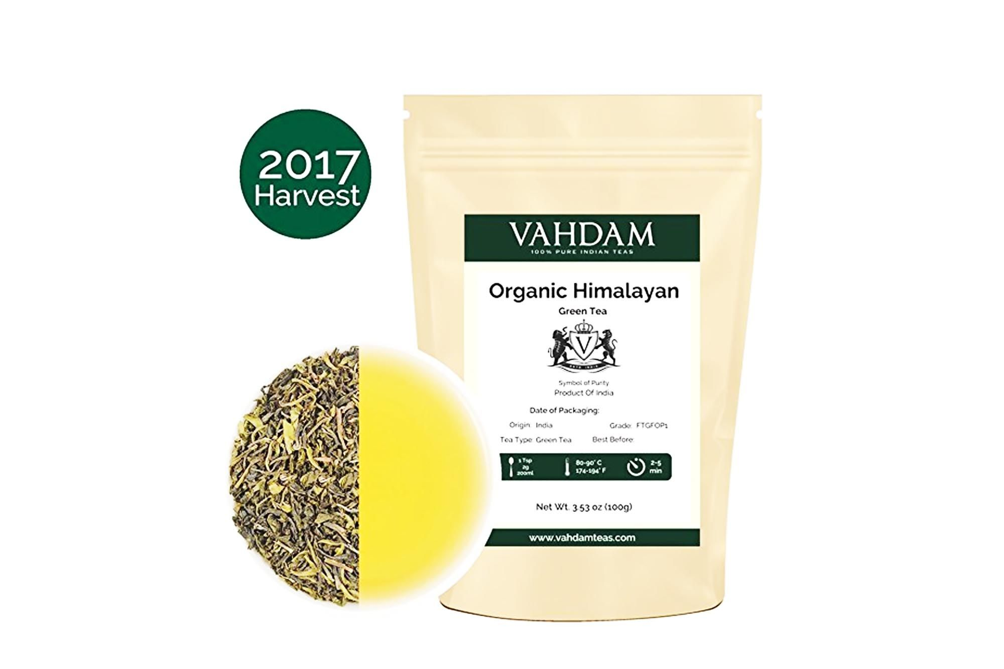 Organic Green Tea Leaves from Himalayas 50 Cups Perfect for
