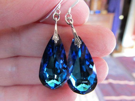 Something Blue Bridal Earrings Turquoise Wedding Earrings