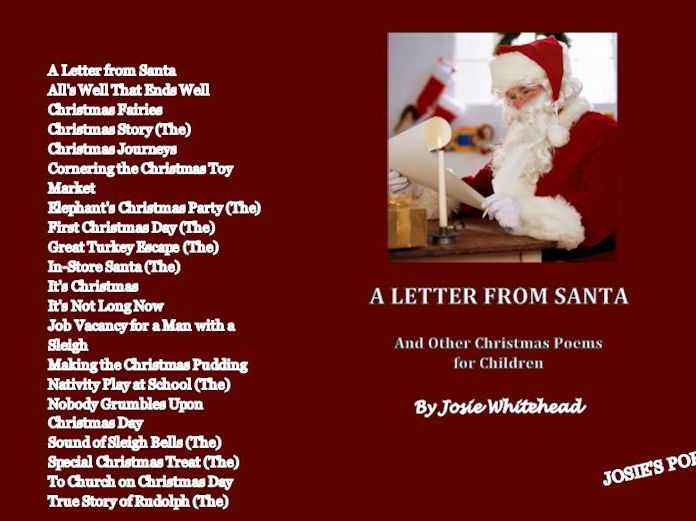 a letter from santa and other christmas poems by josie whitehead