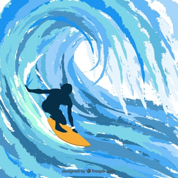 Download Silhouette Of Surfer For Free With Images Surfer Art