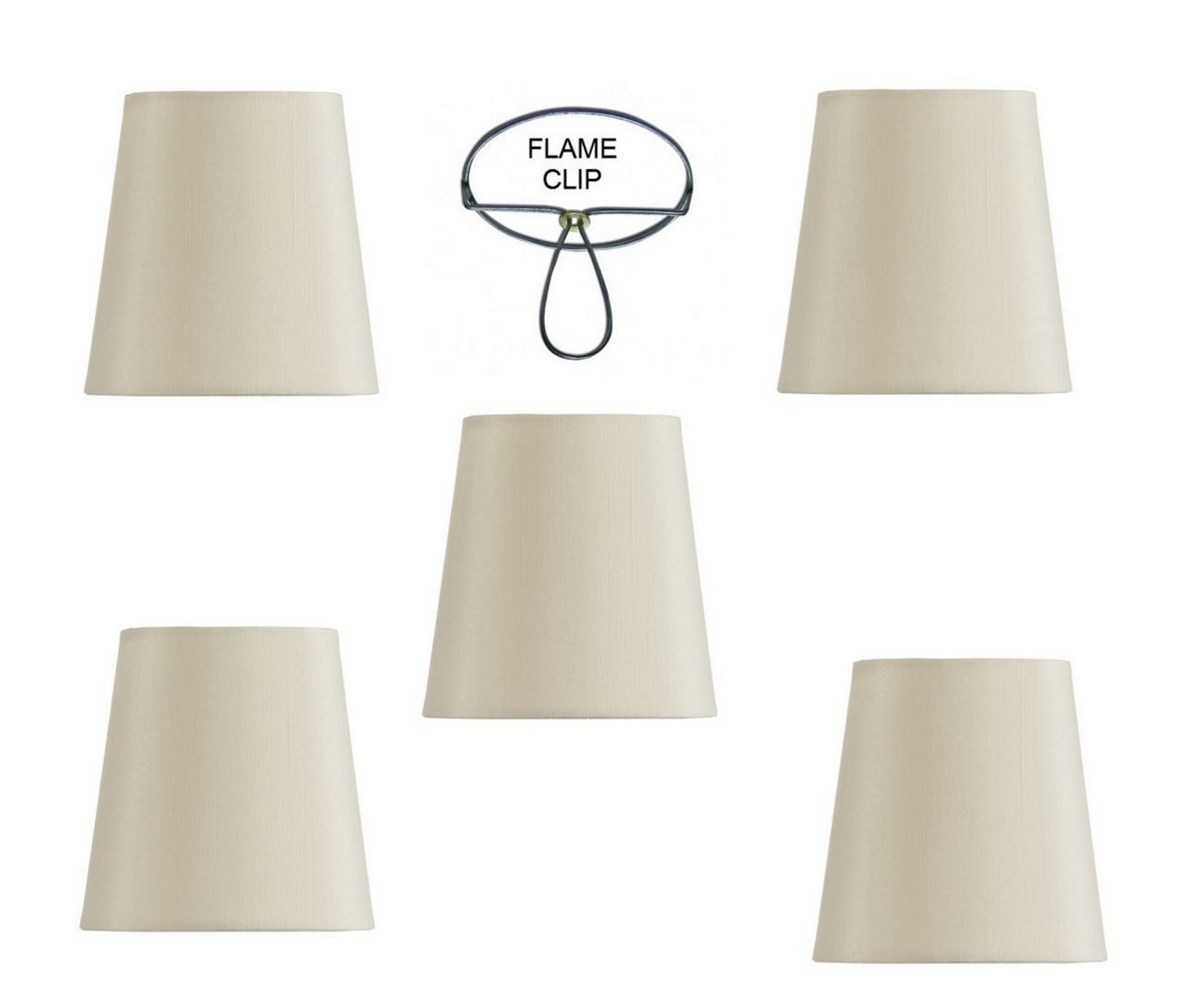 Mini Chandelier Shades Clip On Small Lamp Shades Set Of Five White