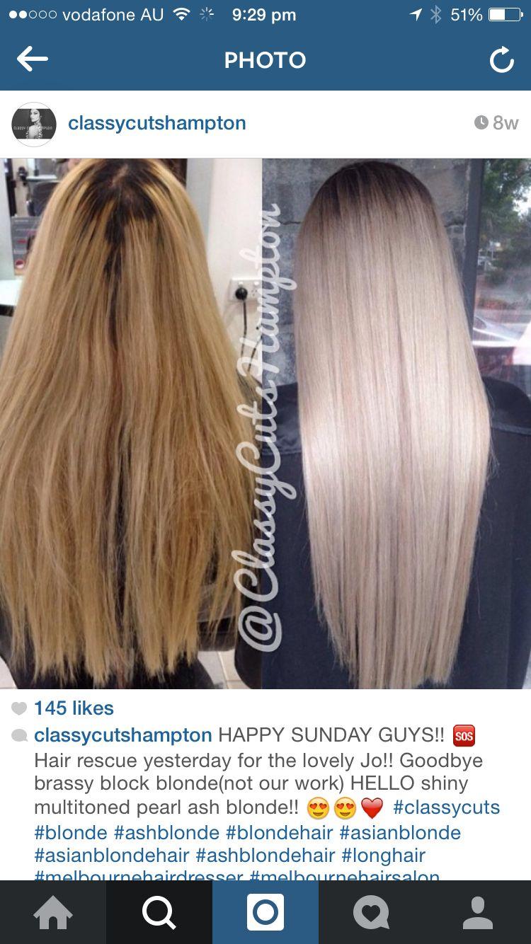 Beige Blonde Beige Blonde Hair Transformation Hair