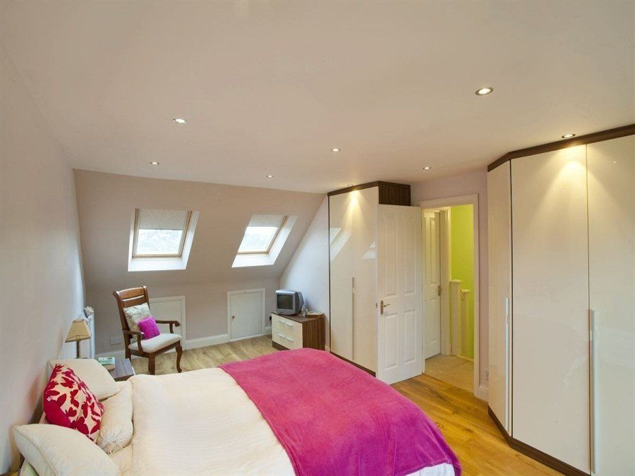 50 Degrees North Architects Dormer Loft Conversion Project In South West London Open Plan Master Bedroom Suite Flooded With Light