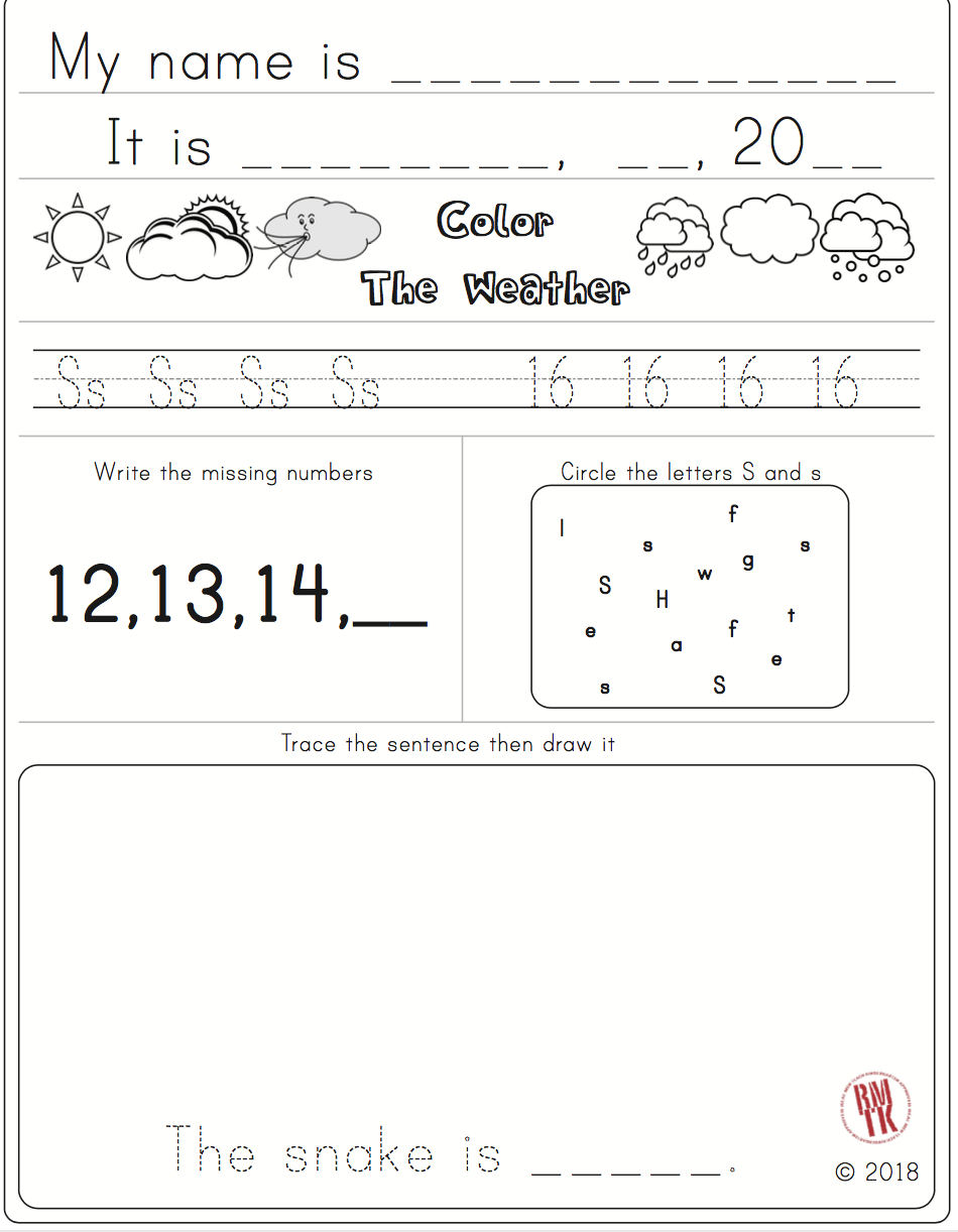 Free Morning work worksheet! From my ABC packet in my #tpt store. #morning # letters #abc #free…   Kindergarten skills [ 1222 x 950 Pixel ]