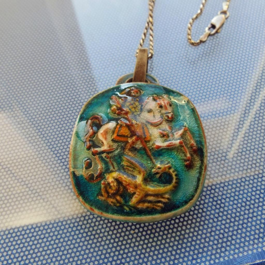pearl dragon austro silver the products gilt love pendant hungarian spo set turquoise george st and gem