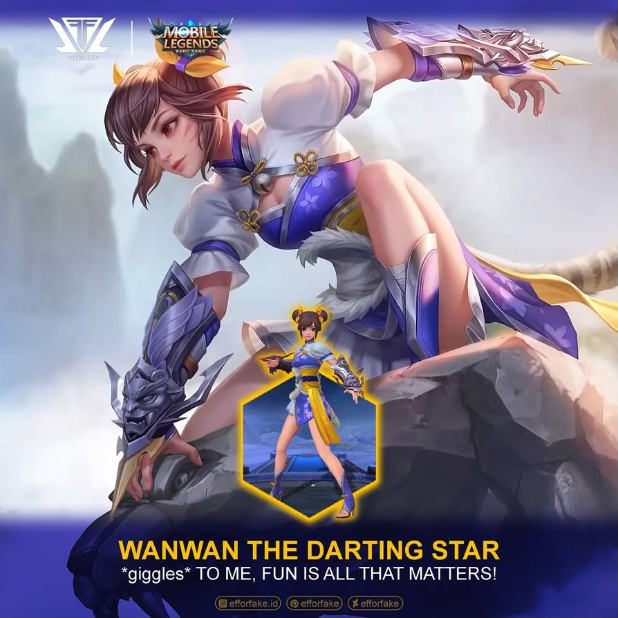 Wanwan Darting Star Mobile Legends By Efforfake On Deviantart In 2020 Mobile Legends Mobile Legend Wallpaper Star Mobile
