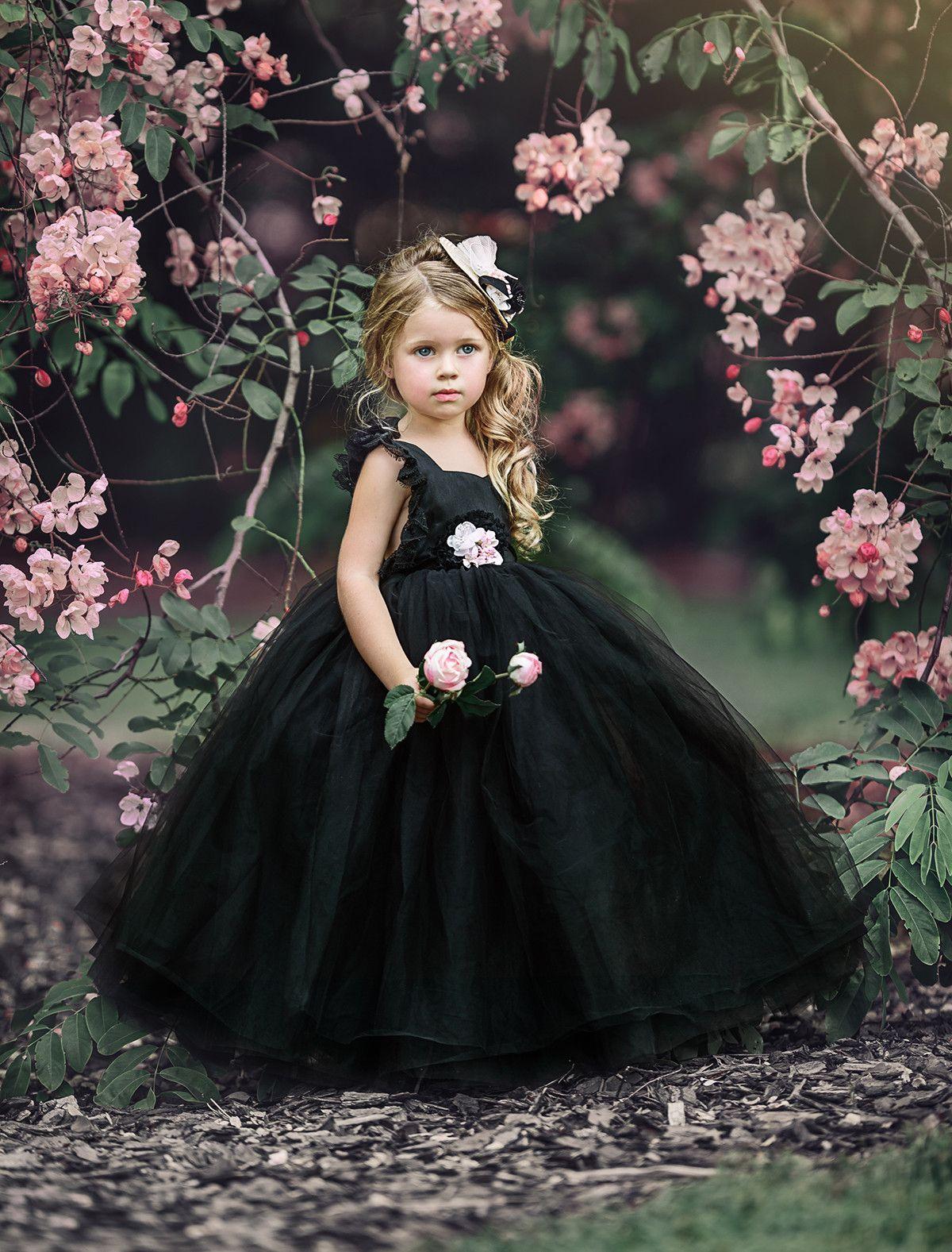 Black beauty frock dollcake dresses flower girl dresses