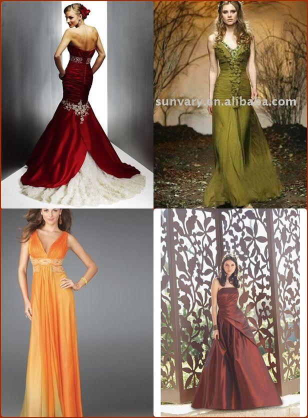 colored wedding dresses autumn wedding dresses ideas budget brides guide a wedding blog - Fall Colored Bridesmaid Dresses