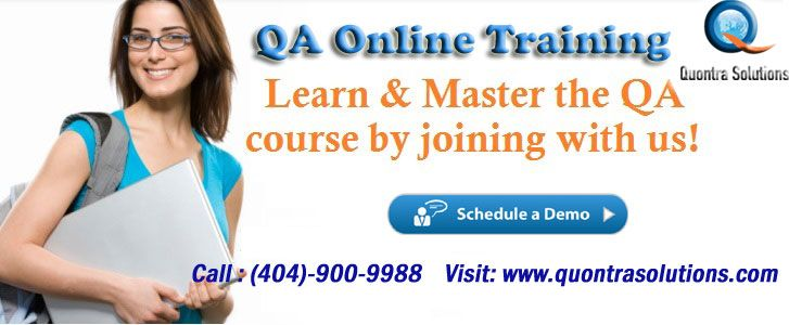 QA Online Training which offers in-depth online training in