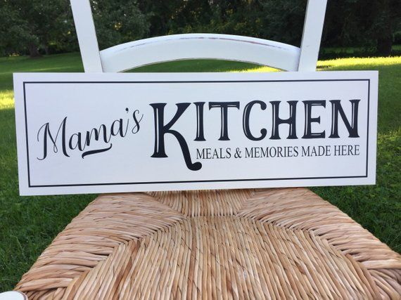 Personalized Kitchen Sign Gift For Mom Custom Name Kitchen