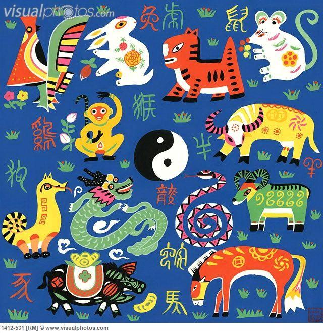chinese zodiac 2001 chen jia qi b1948 chinese watercolor red lantern folk - Chinese New Year 2001