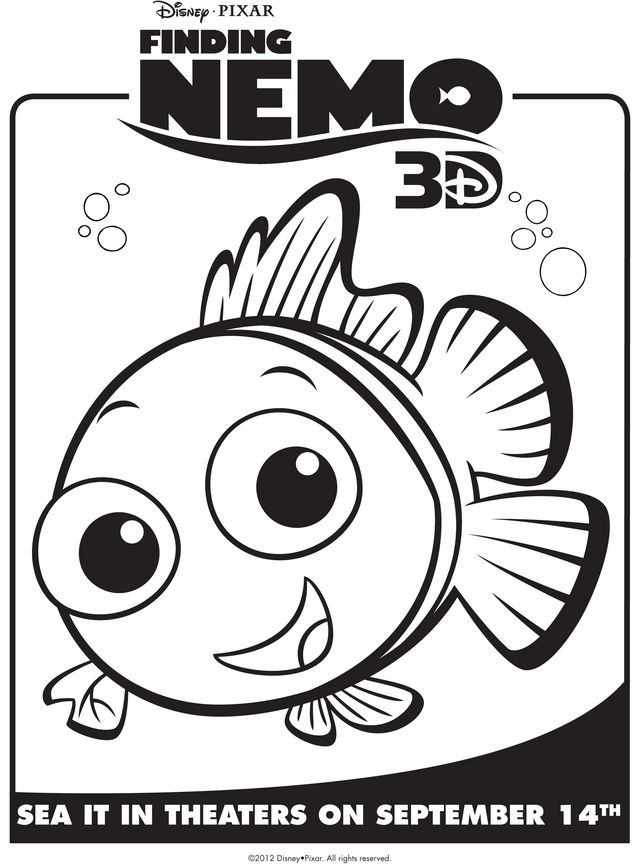 Character Coloring And Activity Pages Nemo Coloring Pages