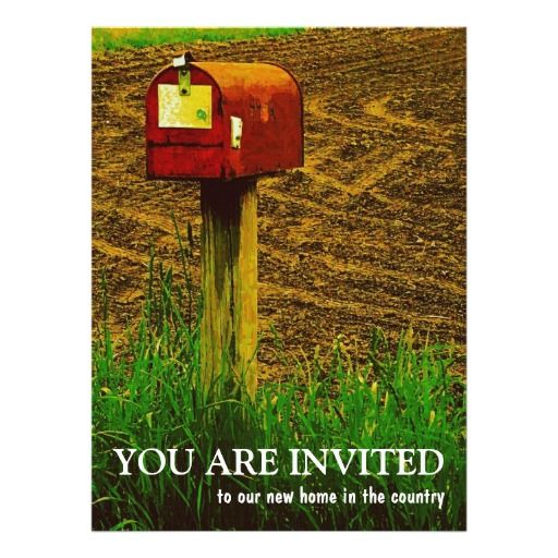 Housewarming Party - New Country Home Card Housewarming party - invitation letter for home party