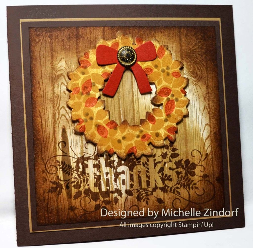 Autumn Wreath Stampin' Up! Card Created By Michelle