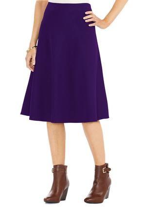 13cde0d02b718 Cato Fashions Flare A-Line Skirt-Plus  CatoFashions