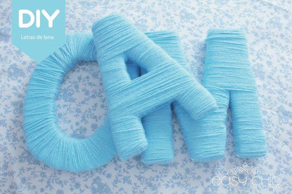 DIY: Como realizar letras con lana para decoraciones