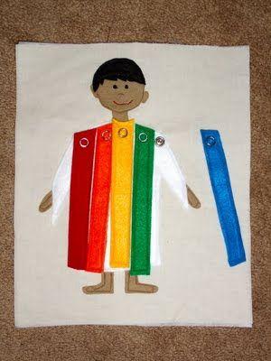 Quiet Book. Joseph coat of colors. Bible.   I am a CHILD of God ...