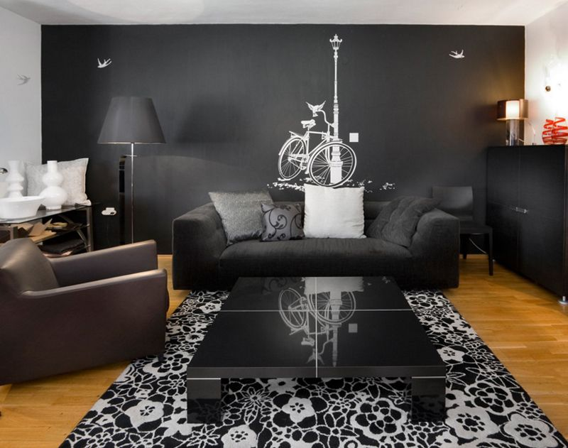 20 Beautiful Black Living Room Couches Home Design Lover Black Living Room Black Furniture Living Room Black Living Room Set