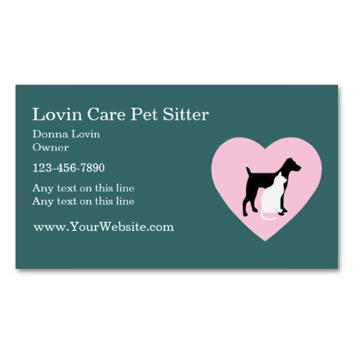 Pet Sitter Business Cards This great business card design is