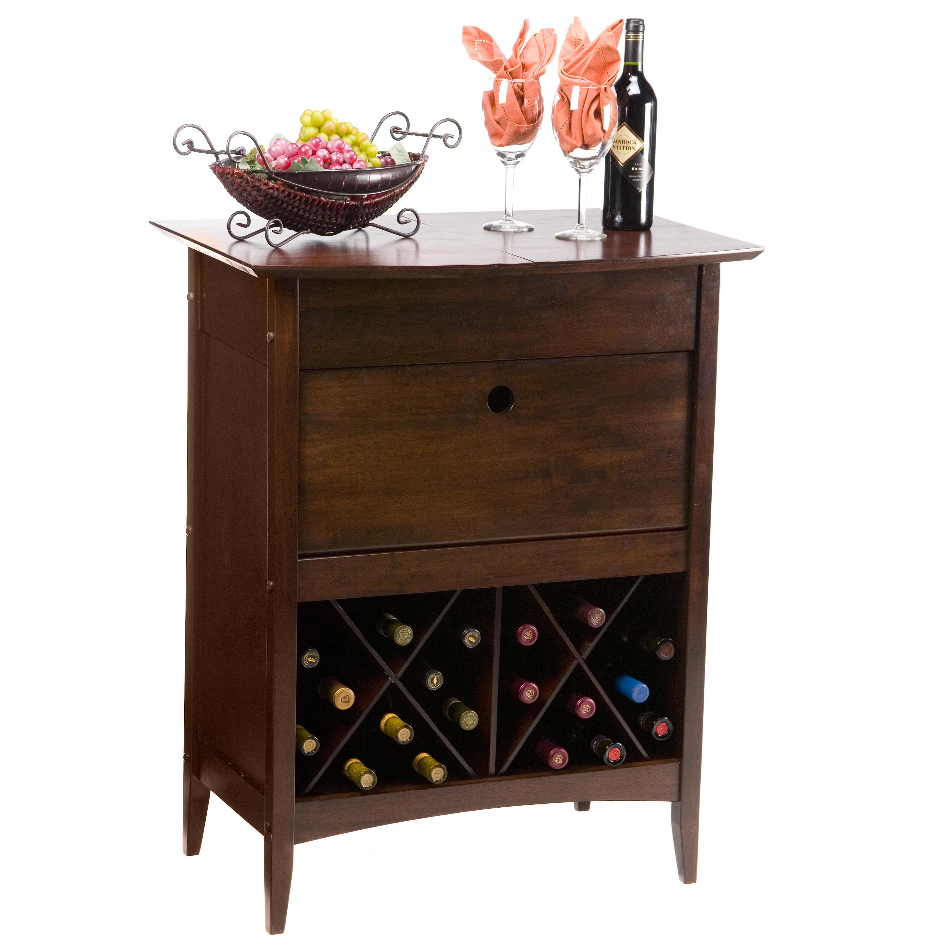 Wonderful Winsome Espresso 24 Bottle Classic Wine Storage Butler   Sophisticated And  Decorative Whether Opened Or Nice Ideas