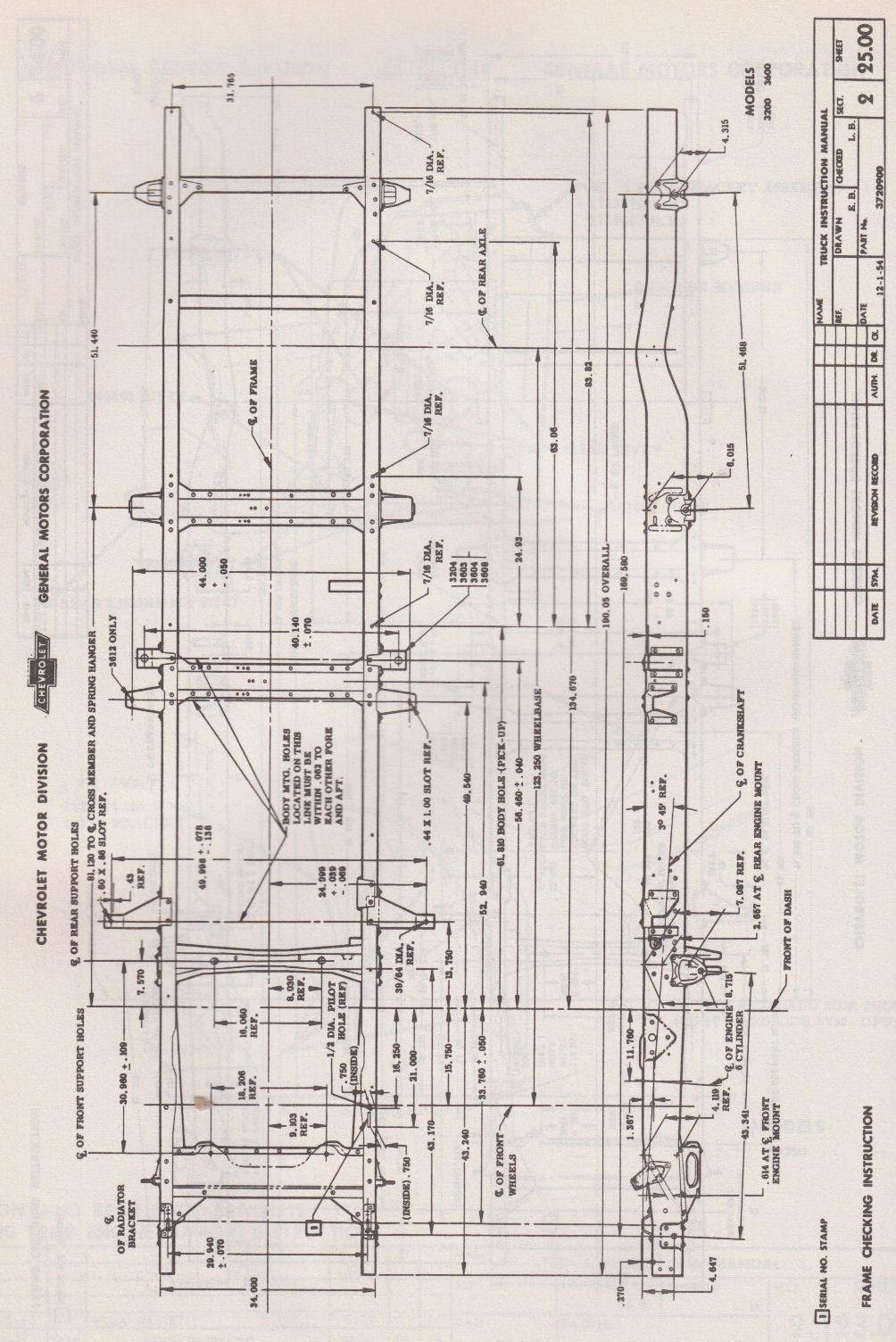 1955 Chevy 3600 3/4 ton (Frame) | Plans (Trucks) | Pinterest