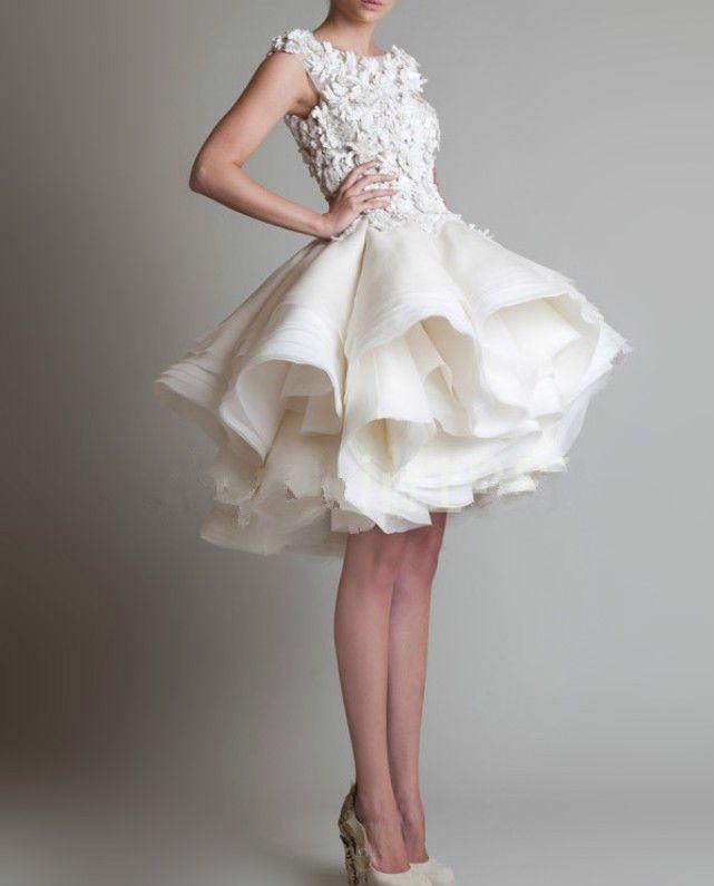 New White Ivory Puffy Skirt Short Bridal Wedding Dress Size 2 4 6 8 10 12 14 16 Short Wedding Dress Wedding Dresses Bridal Gowns,Wedding Dress Pants