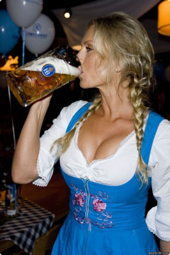 Pretty girls and beer can't miss during your stag