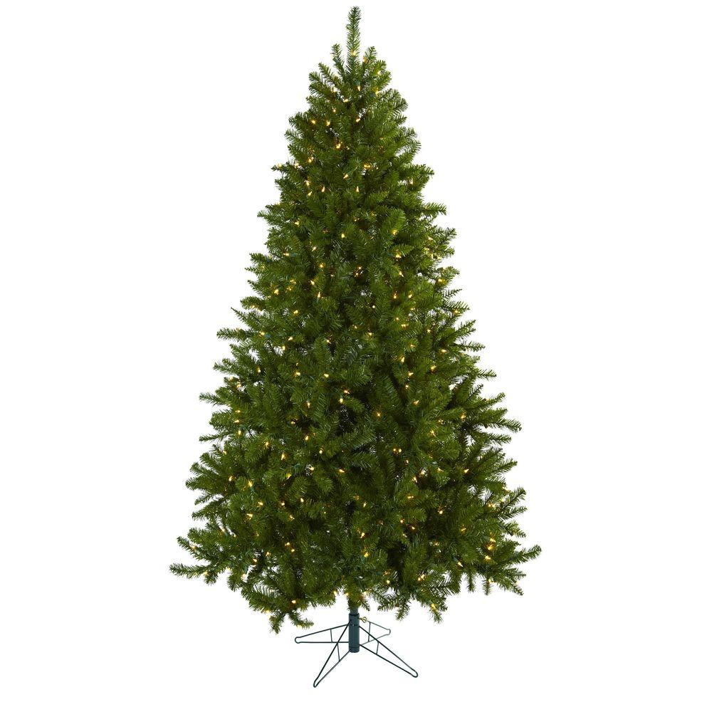 Nearly Natural 7 5 Ft Windermere Artificial Christmas Tree With Clear Lights 5374 Natural Home Decor Christmas Tree Clear Lights Indoor Trees