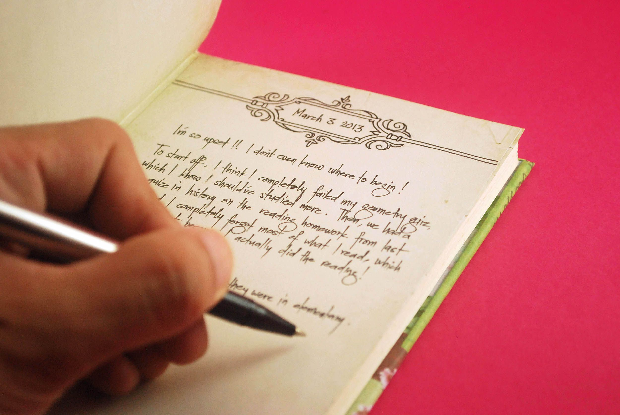 Fill the first page of your diary journal covers journal and