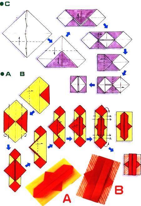 diagramme d 39 origami d 39 enveloppe chinoise enveloppe. Black Bedroom Furniture Sets. Home Design Ideas