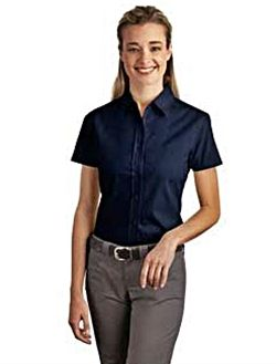 navy blue shortsleeded formal or semiformal shirt http